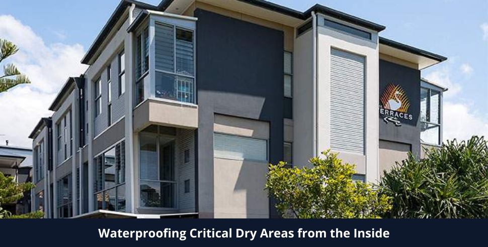 Waterproofing Critical Dry Areas from the Inside Using Cavity Drain Membrane