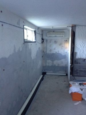 Waterproofing a converted basement storage area from the inside