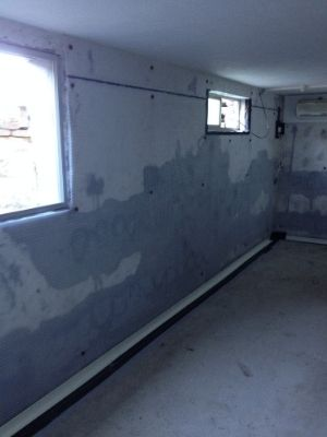 Waterproofing a converted basement storage area